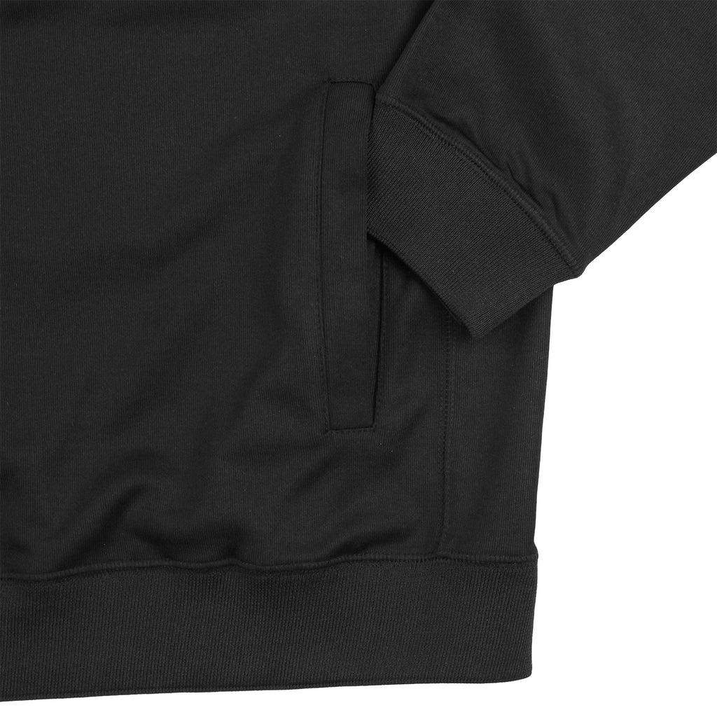 Polar Skate Co Half Zip Sweatshirt in Black / Reflective Silver - Pocket