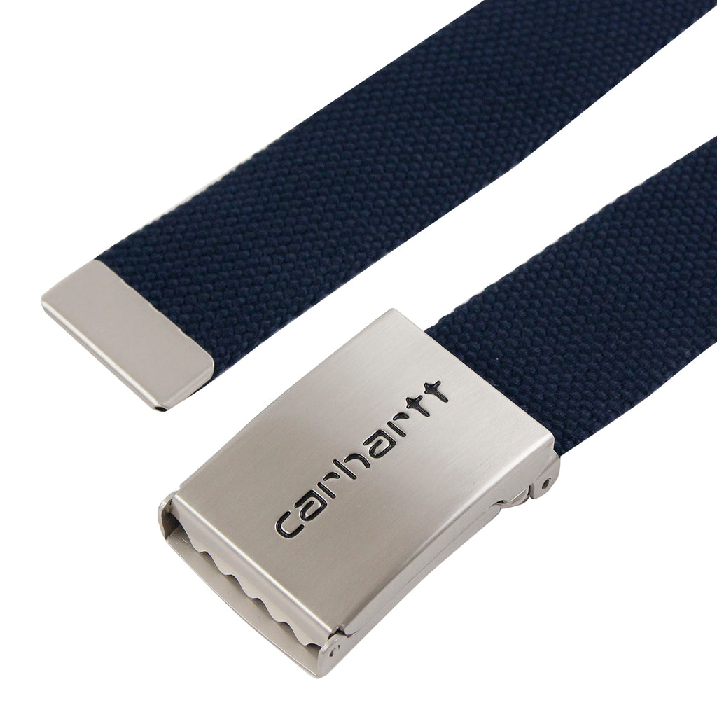 Carhartt Clip Belt Chrome in Dark Navy - Clip