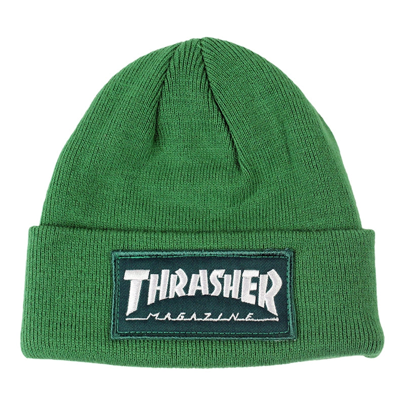 Thrasher Patch Beanie in Green
