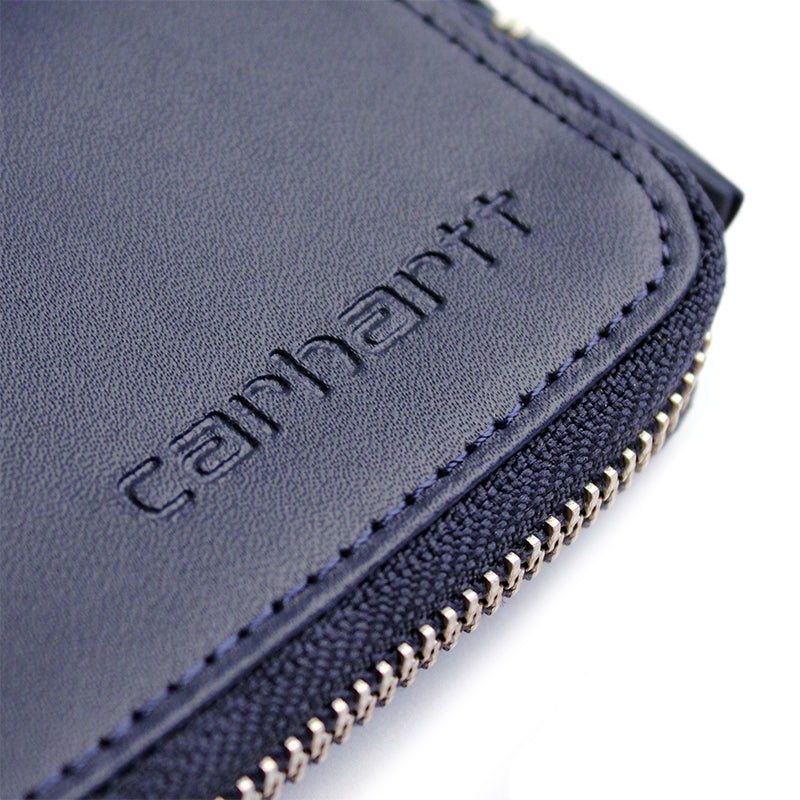 Carhartt WIP Mini Wallet in Blue Penny - Embossed