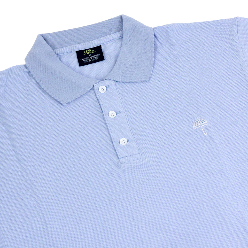 Helas Classic Polo Shirt in Pastel Blue - Detail