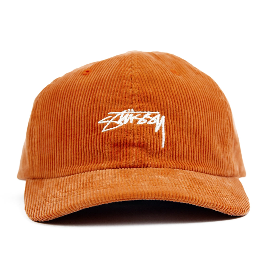 Stussy Corduroy Low Pro Cap - Orange - Front