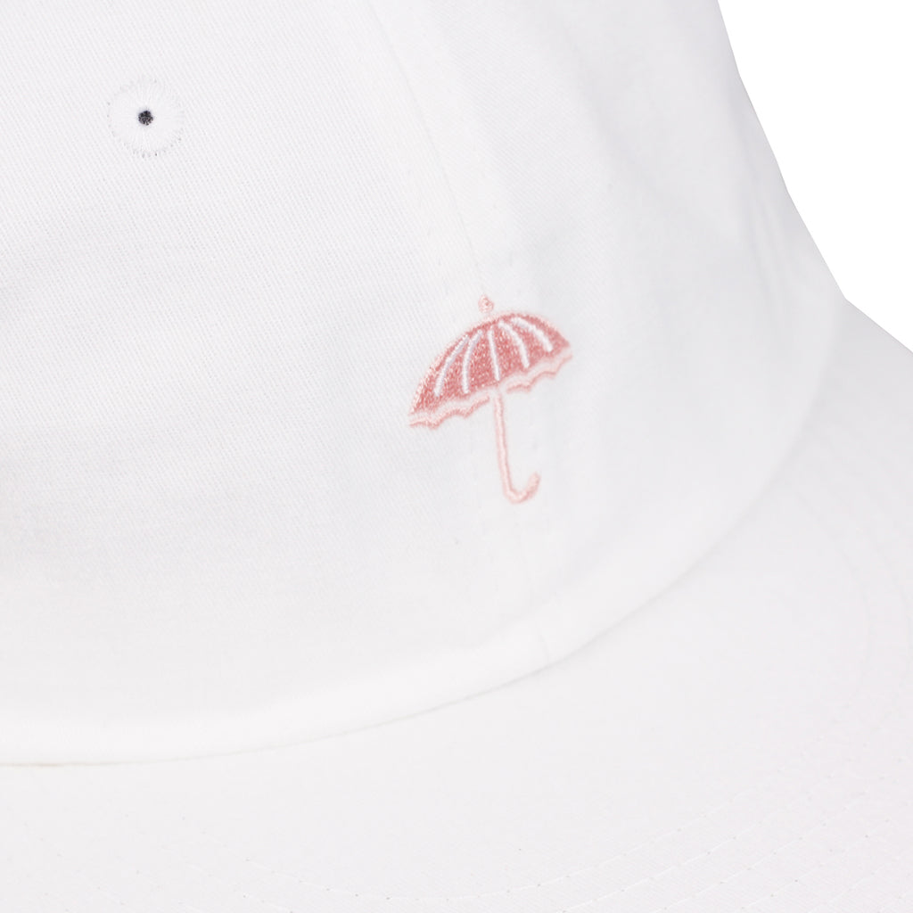 Helas Classic 6 Panel Cap in White / Pink - Detail
