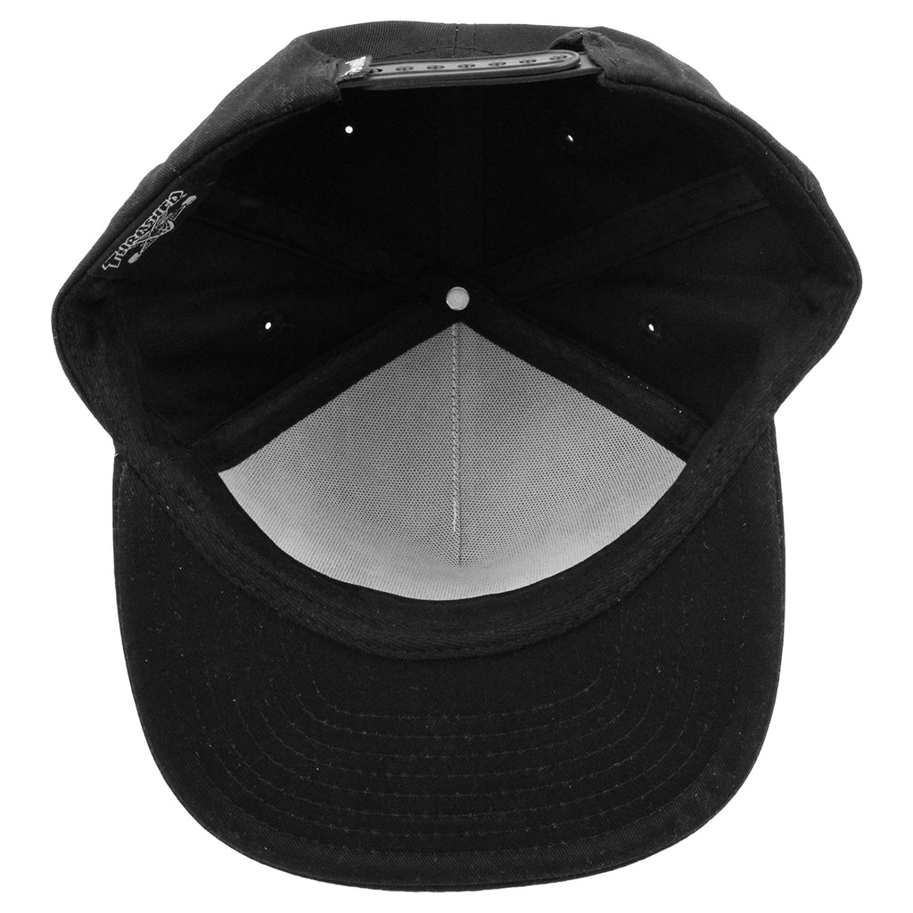 Thrasher Skategoat Snapback Cap in Black - Inside