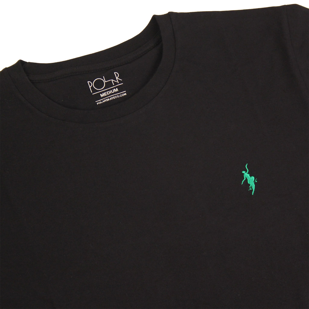 Polar Skate Co No Comply T Shirt in Black / Green - Details