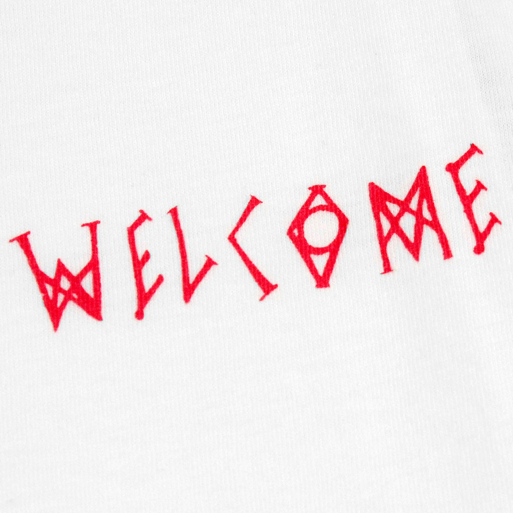 Welcome Skateboards Talisman Gradient T Shirt in White / Pink / Blue - Print