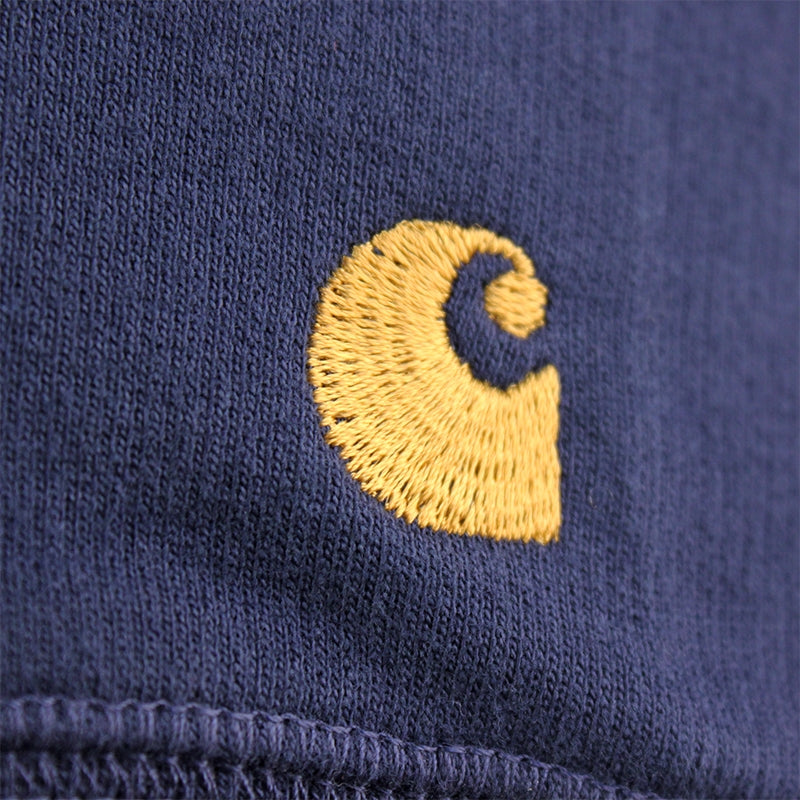 Carhartt WIP Chase Sweat in Blue Penny - Embroidery