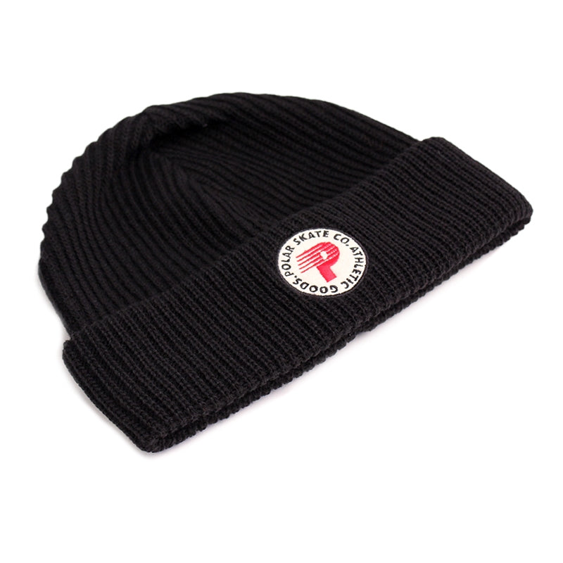 Polar Skate Co Harbour Beanie in Black / Red - Front
