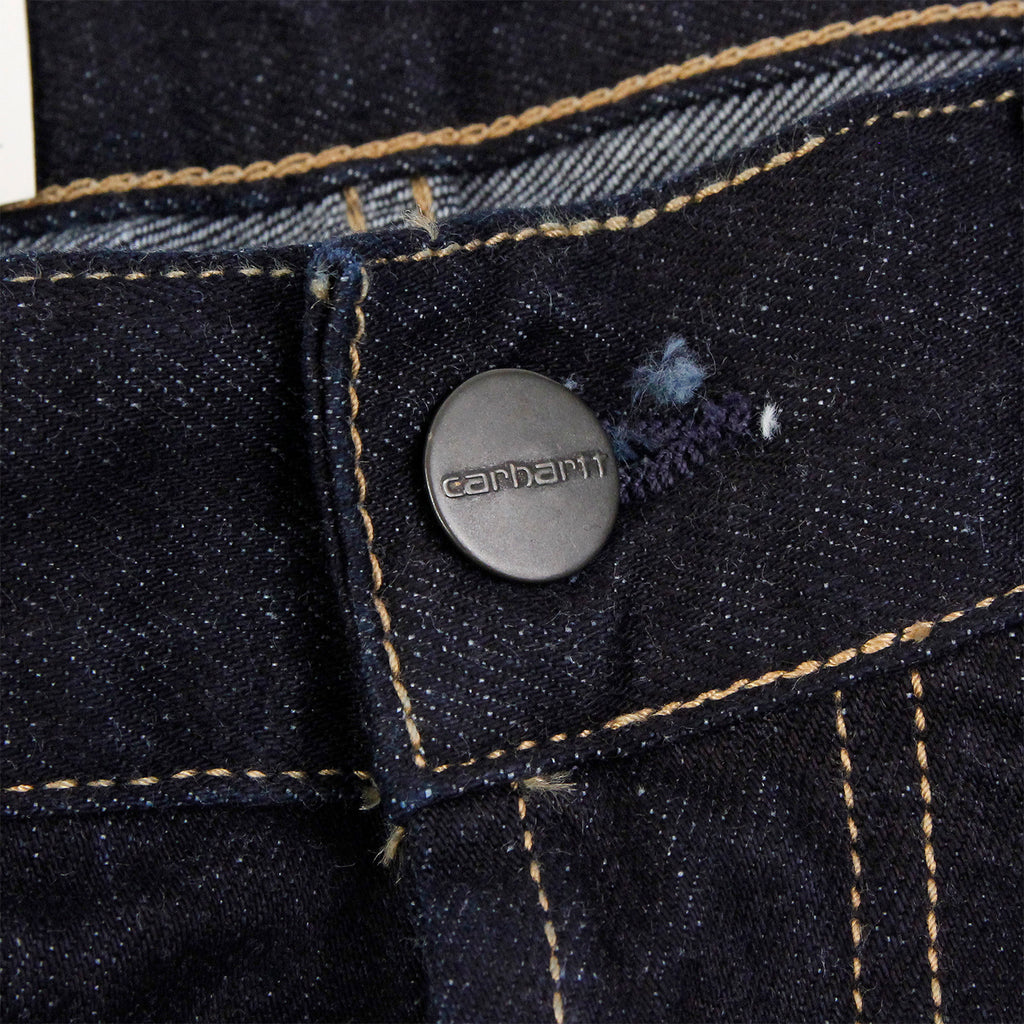 Carhartt Marlow Pant Jeans in Blue Rinsed - Button