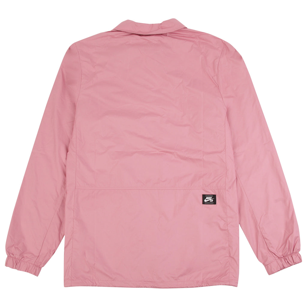 Nike SB Shield Coach Jacket in Elemental Pink / White - Back