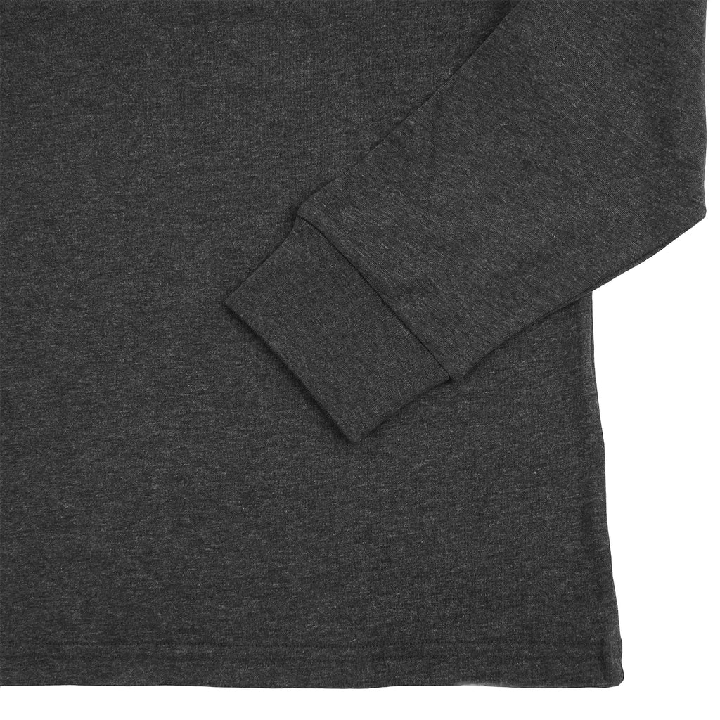 Carhartt L/S Pocket T Shirt in Black Heather - Cuff