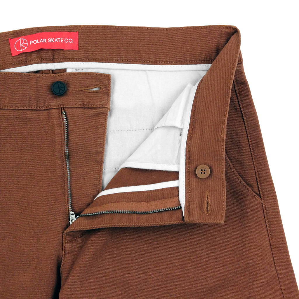 Polar Skate Co Flamingo Chino in Honey Brown - Open