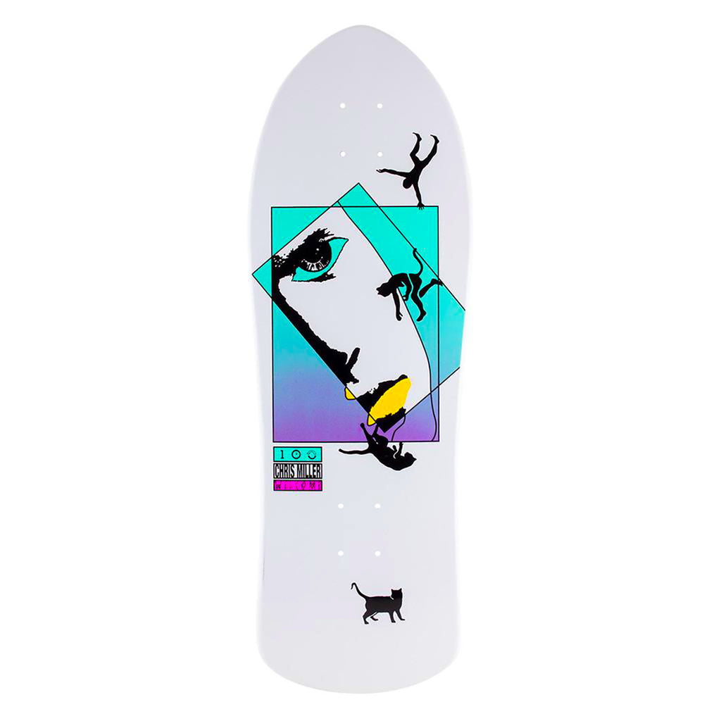 Welcome Skateboards Miller Faces On Crossbone (White Dip) Deck in 10""