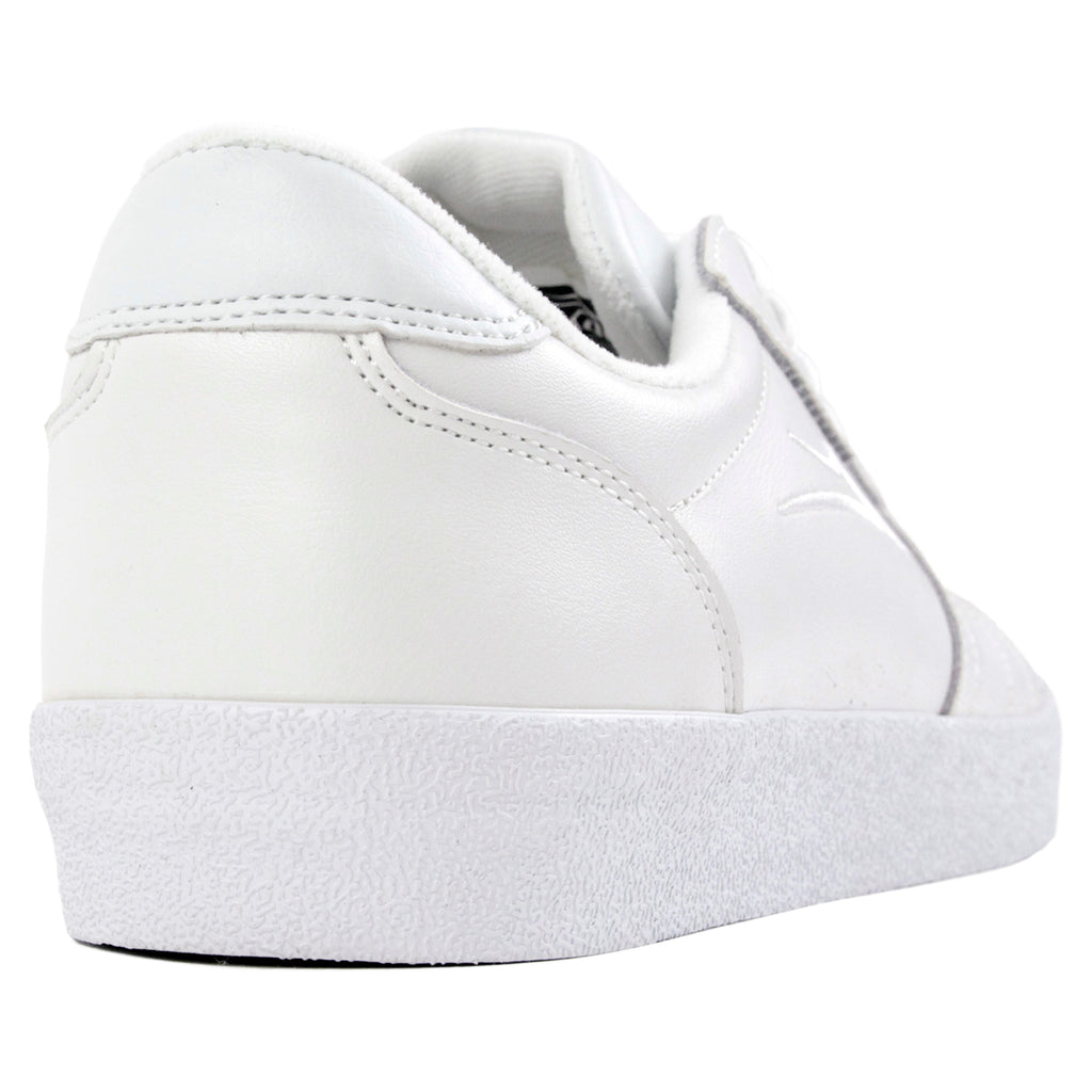 Lakai Anchor Salford Shoes in White Leather - Heel