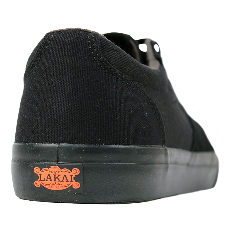 Lakai Fura Anchor in Black / Black Suede - Heel