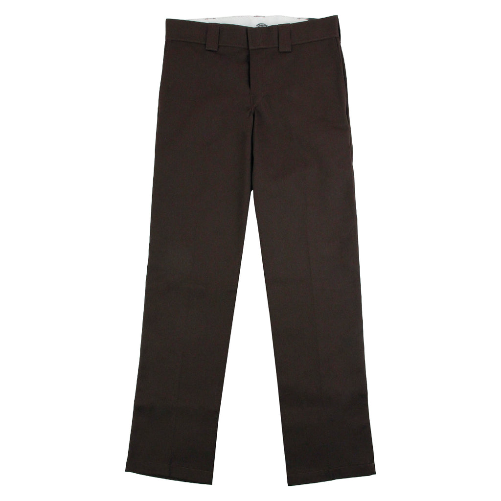 Dickies 873 Slim Straight Work Pant in Chocolate - Open