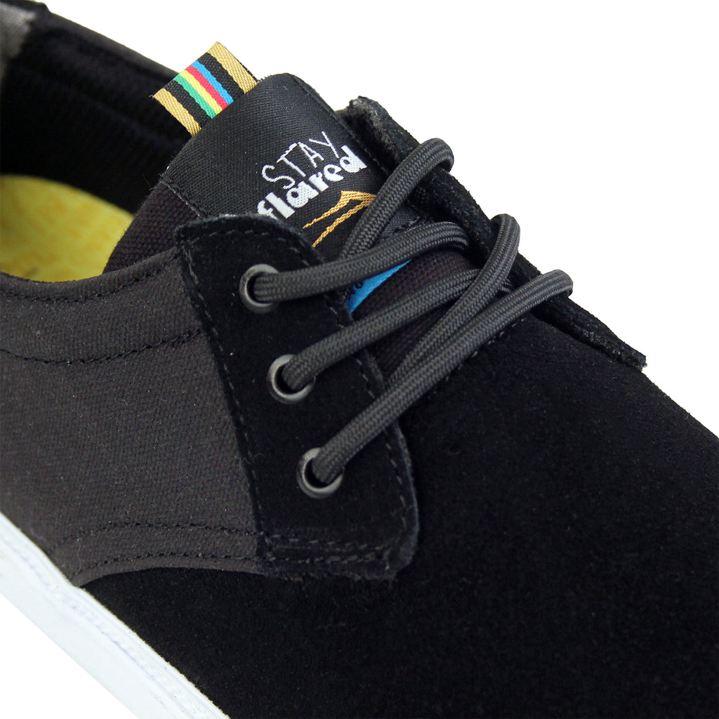 Lakai MJ Stay Flared in Black Suede / White - Detail