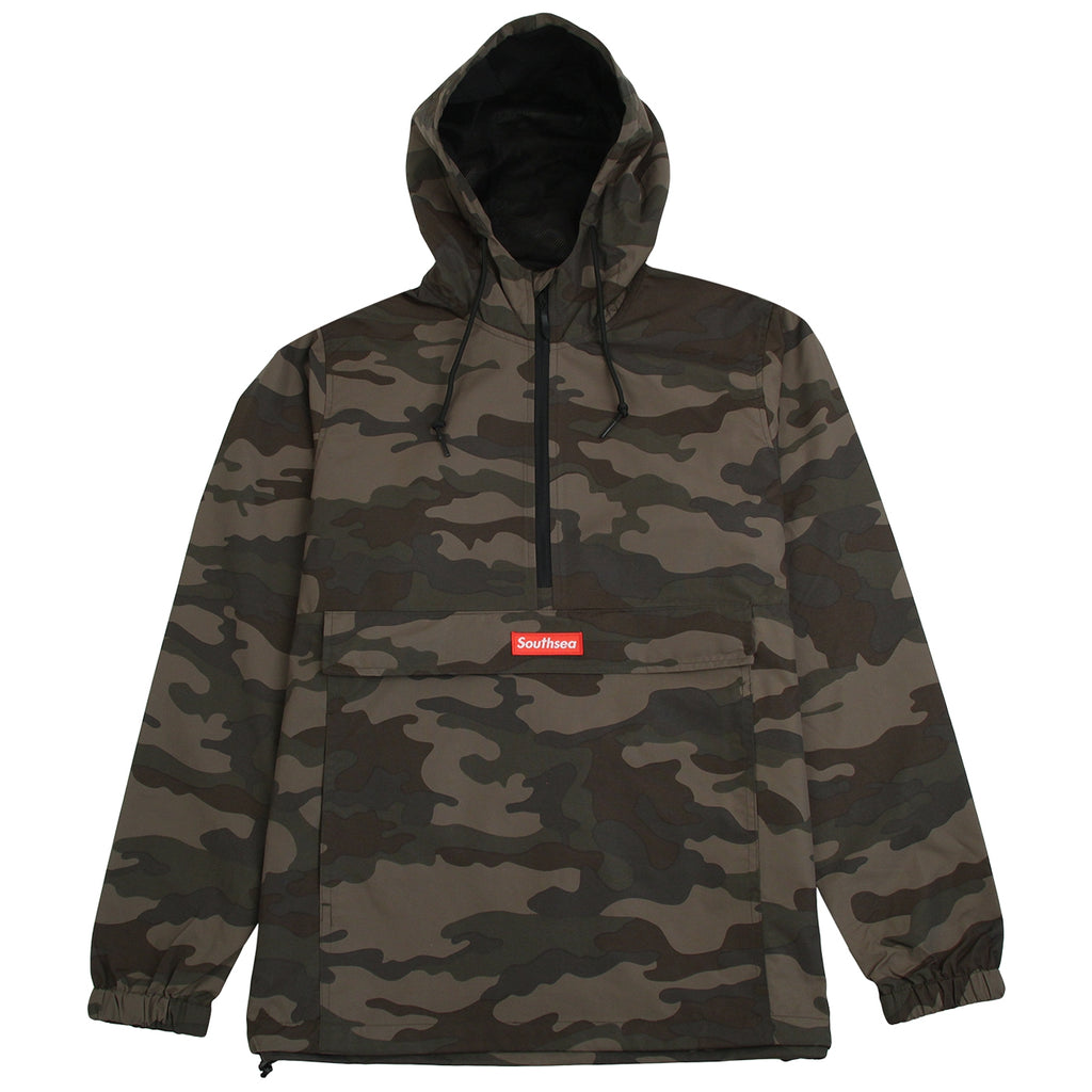 "Bored of Southsea ""Southsea"" Windbreaker Anorak Jacket in Camo"