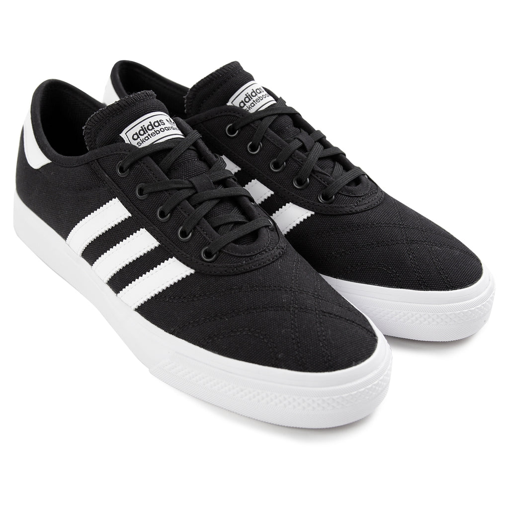 Adidas Skateboarding Adi Ease Premiere Canvas Shoes in Core Black / Footwear White / Gum - Pair
