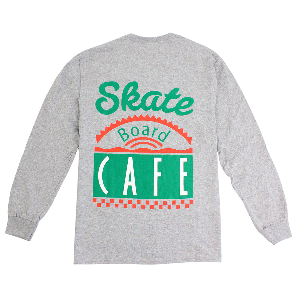 Skateboard Cafe Diner L/S T Shirt in Heather Grey