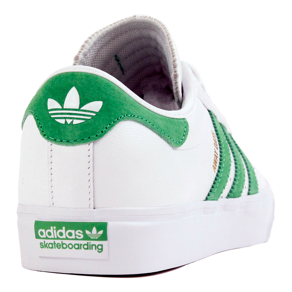 "Adidas Skateboarding Adi Ease Premiere ""Away Days"" Shoes in White / Lime / Gum - Heel"