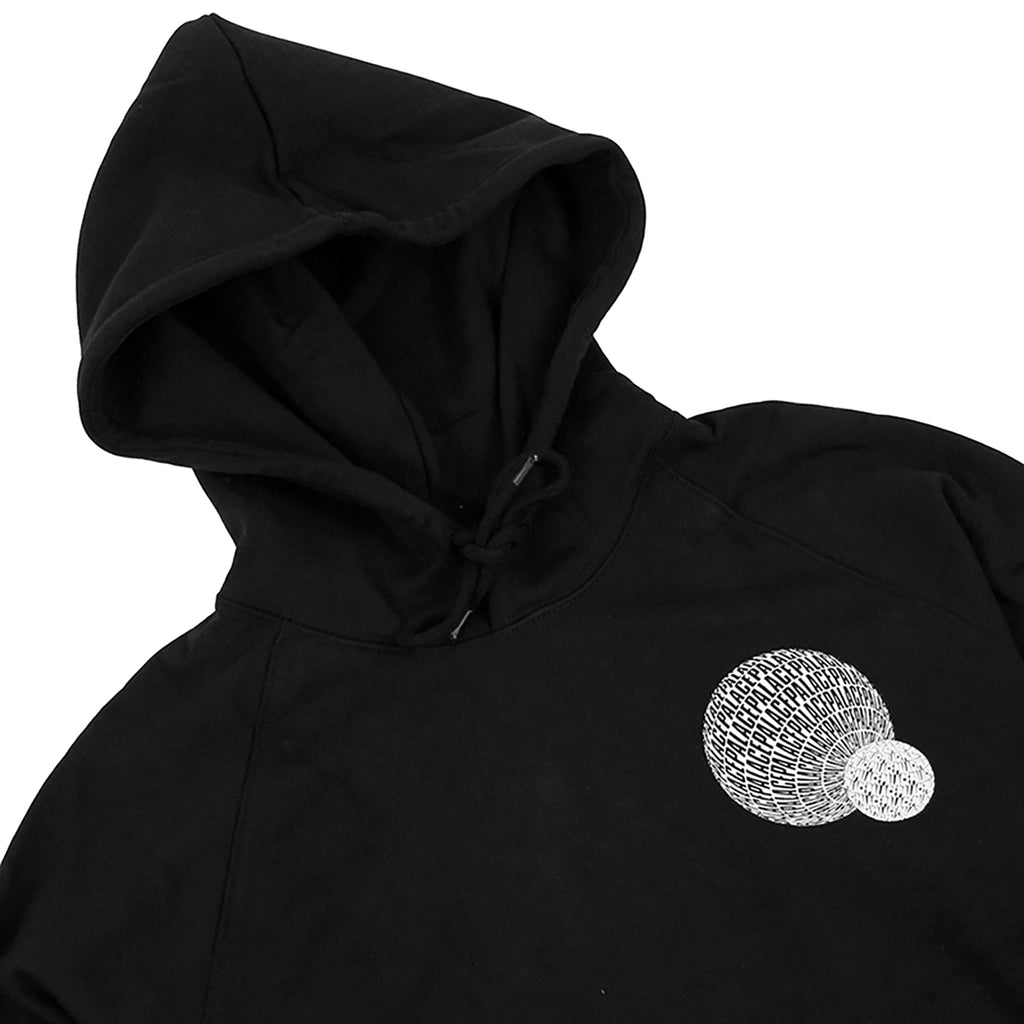 Palace If You Ain't There Hoodie in Black - Detail