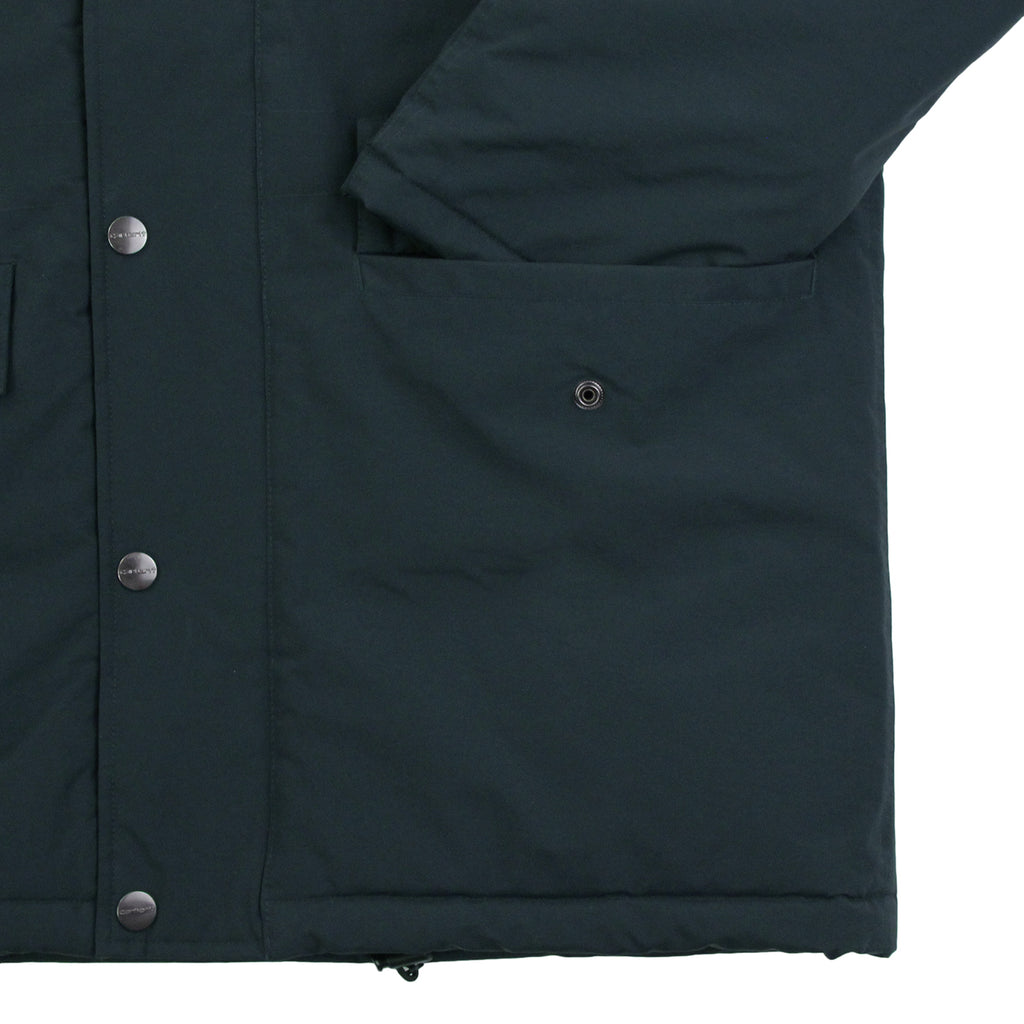 Carhartt Anchorage Parka Jacket - Dark Petrol / Black - Pocket