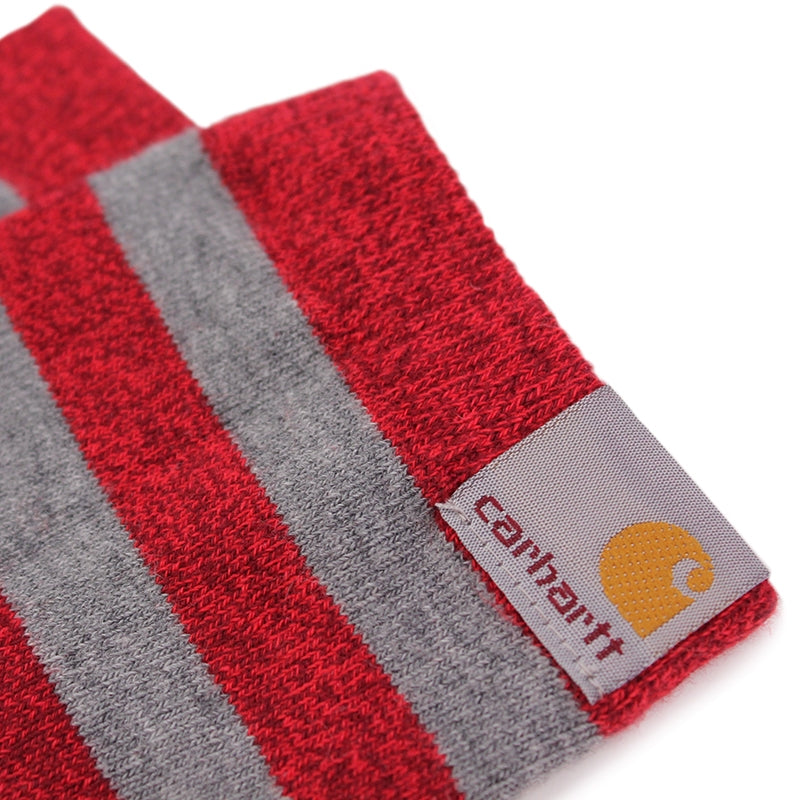 Carhartt WIP Basic Socks in Cranberry Heather / Grey - Label
