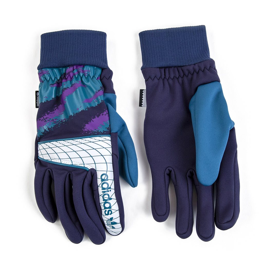 Adidas Goalie Gloves in Collegiate Navy / Real Teal - Detail