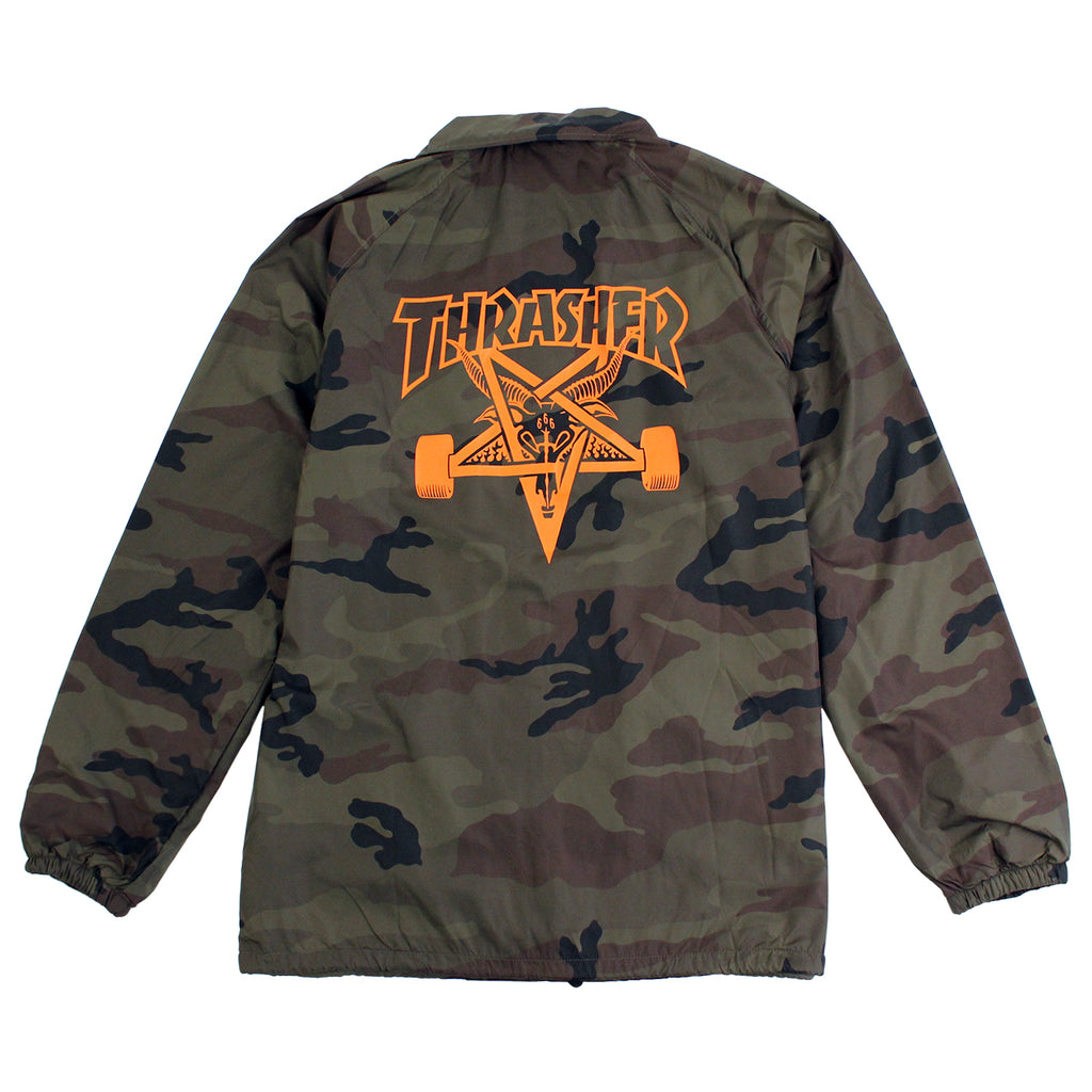 Thrasher Skategoat Coaches Jacket in Camo - Back