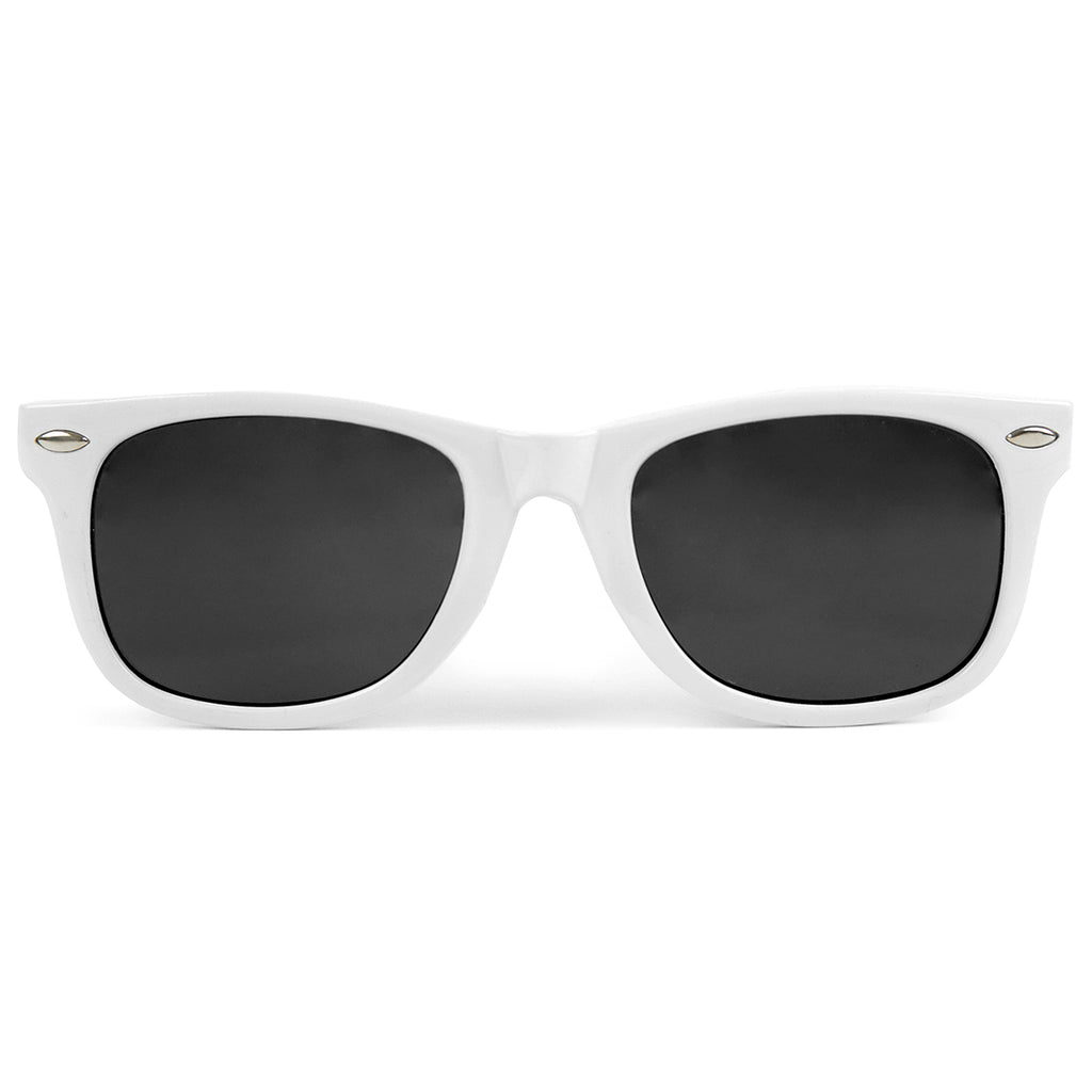 "Bored of Southsea ""Southsea"" Wayfarer Sunglasses in White"