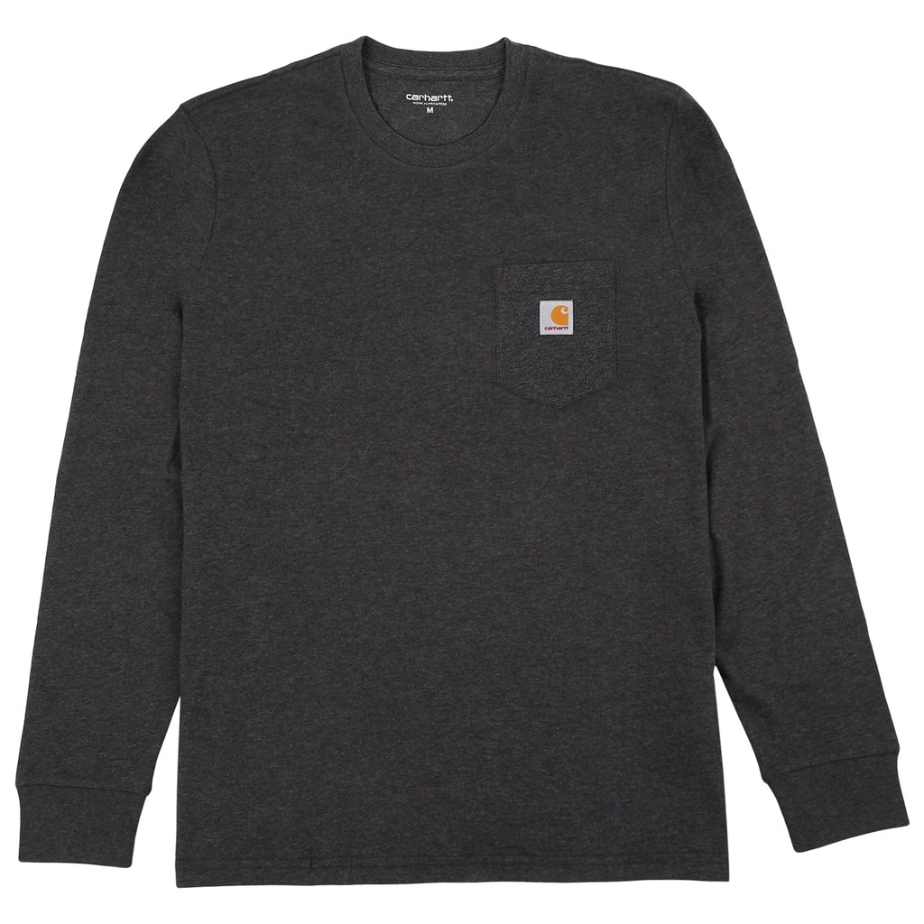 Carhartt L/S Pocket T Shirt in Black Heather