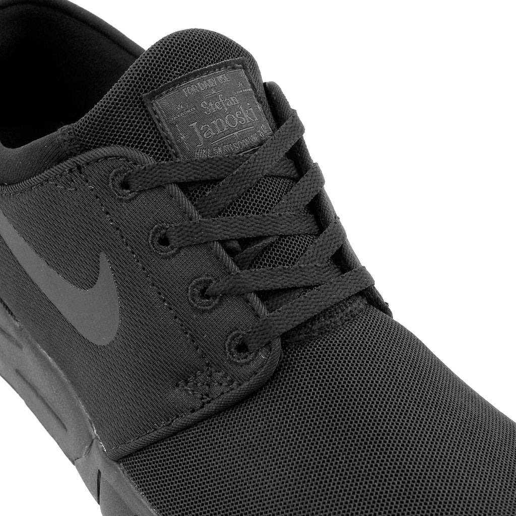Nike SB Stefan Janoski Max Shoes - Black / Black - Anthracite in Black - Laces