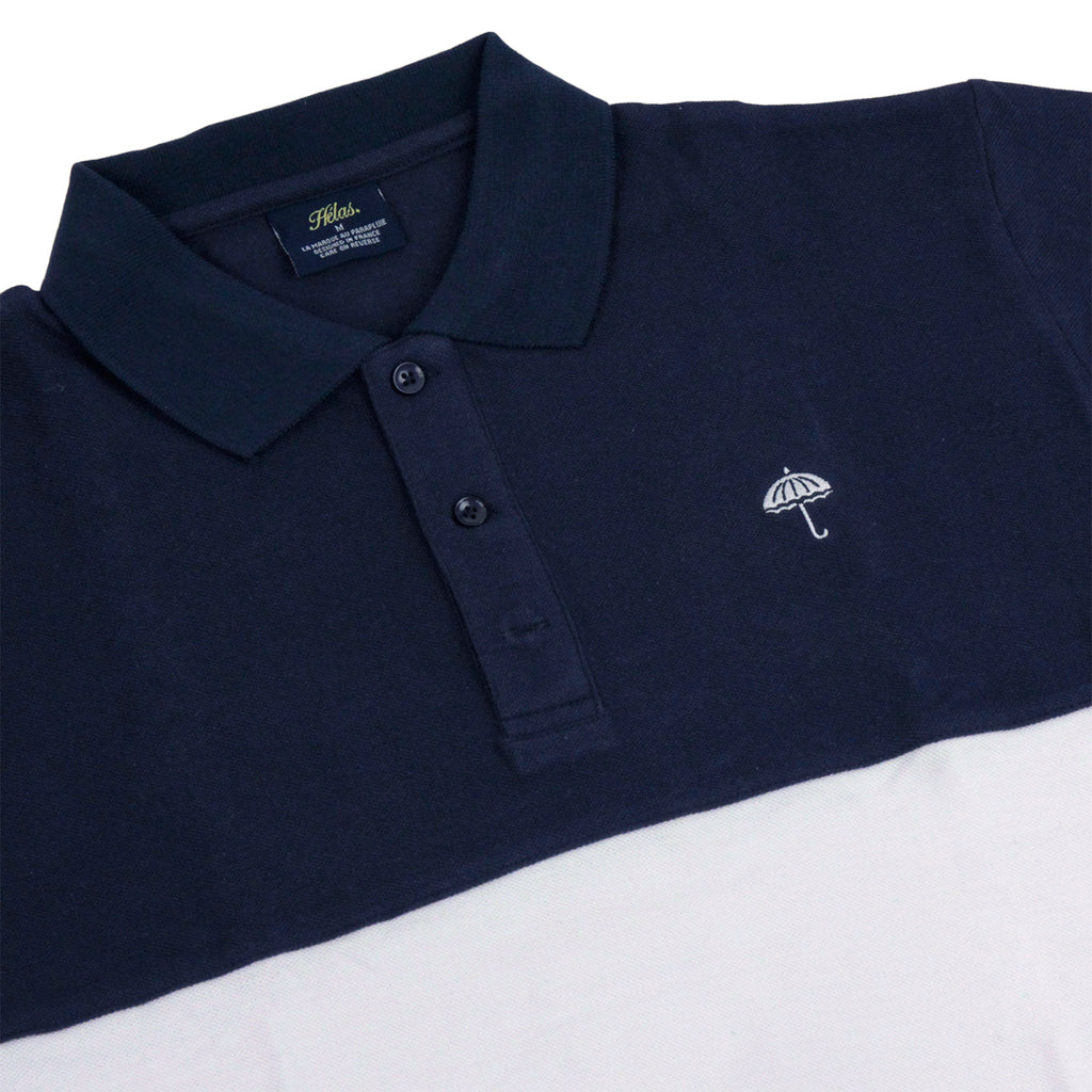 Helas Classic Polo Shirt in Navy / White / Green - Detail