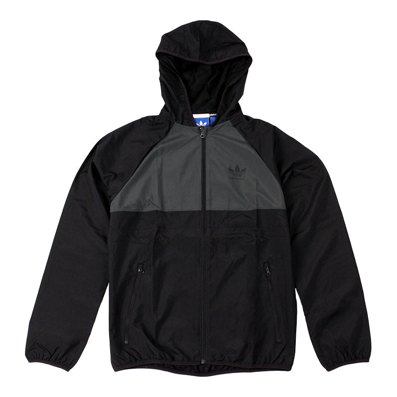 Adidas Skateboarding ADV Wind Jacket in Black/Solid Grey