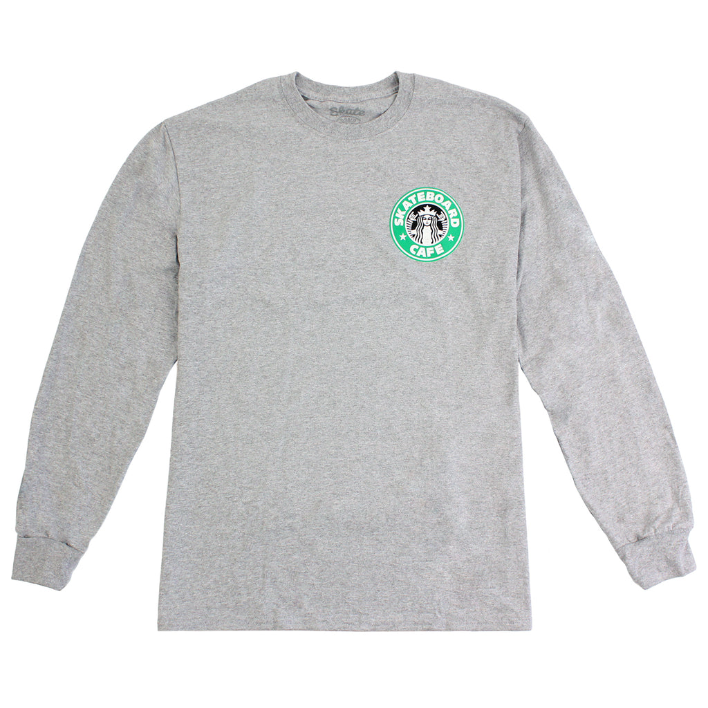 Skateboard Cafe Starfucks L/S T Shirt in Heather Grey