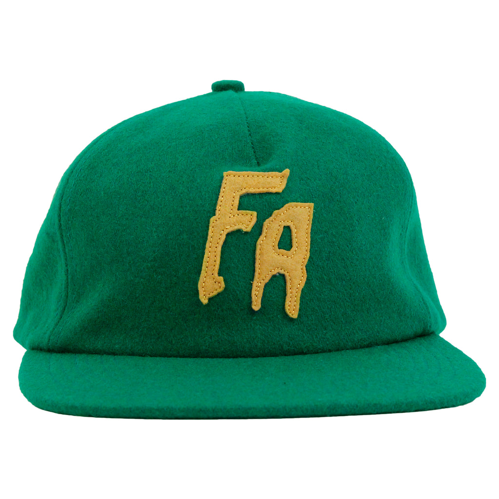 Fucking Awesome Classic FA Logo Wool Snapback Cap in Green - Front