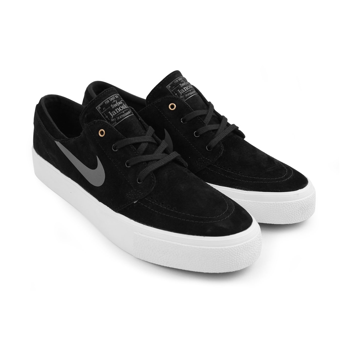 Stefan Janoski HT Shoes in Black   Dark Grey - Metallic Gold by Nike ... acc4fcf86