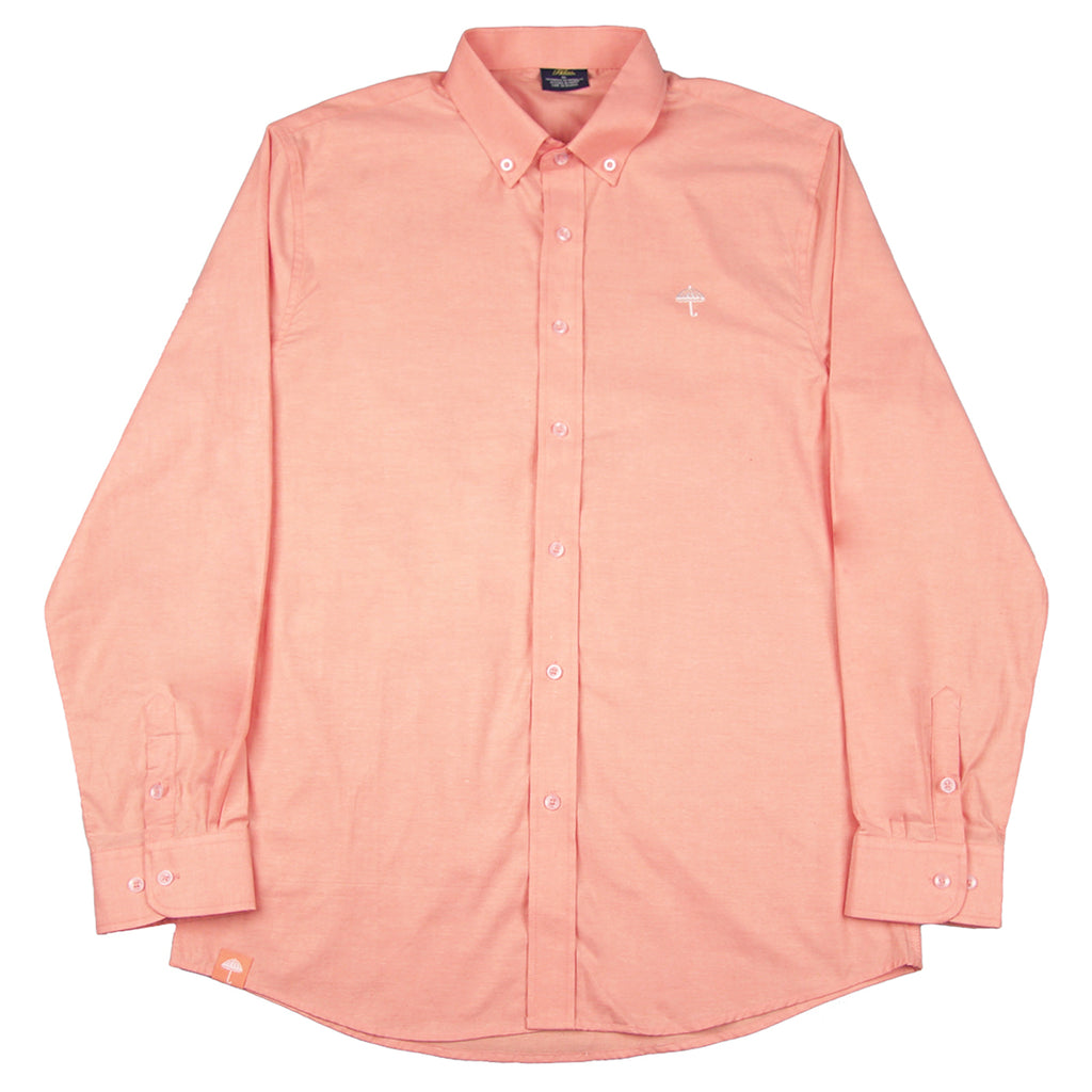 Helas Classic Long Sleeve Shirt in Salmon Pink