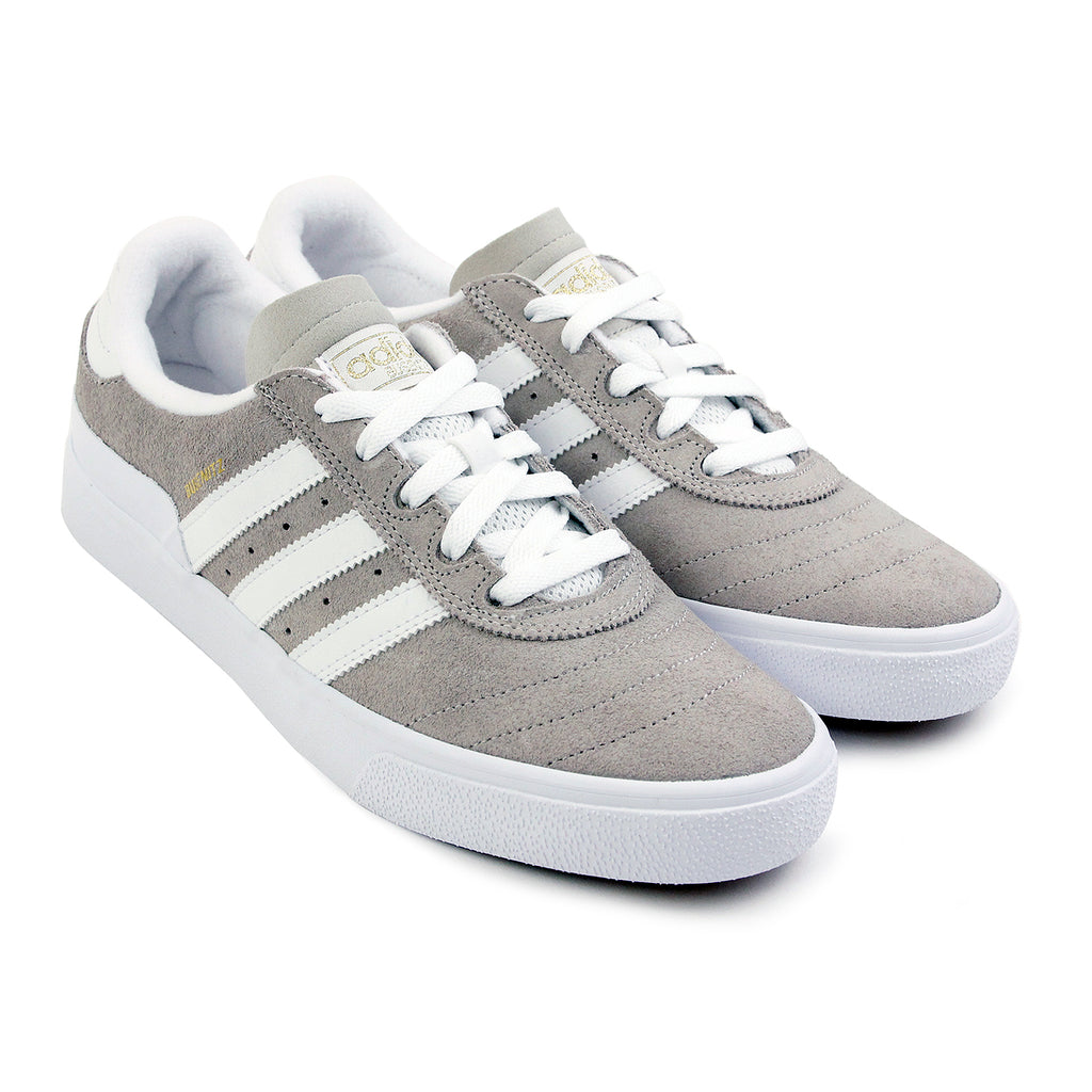 Adidas Skateboarding Busenitz Vulc Shoes in FTW White / Mist Stone / FTW White - Paired