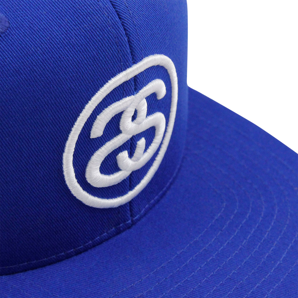 Stussy SS Link Snapback in Royal Blue - Embroidered