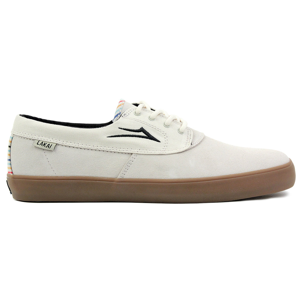 Lakai Camby Crailtap Suede Shoes in Cream