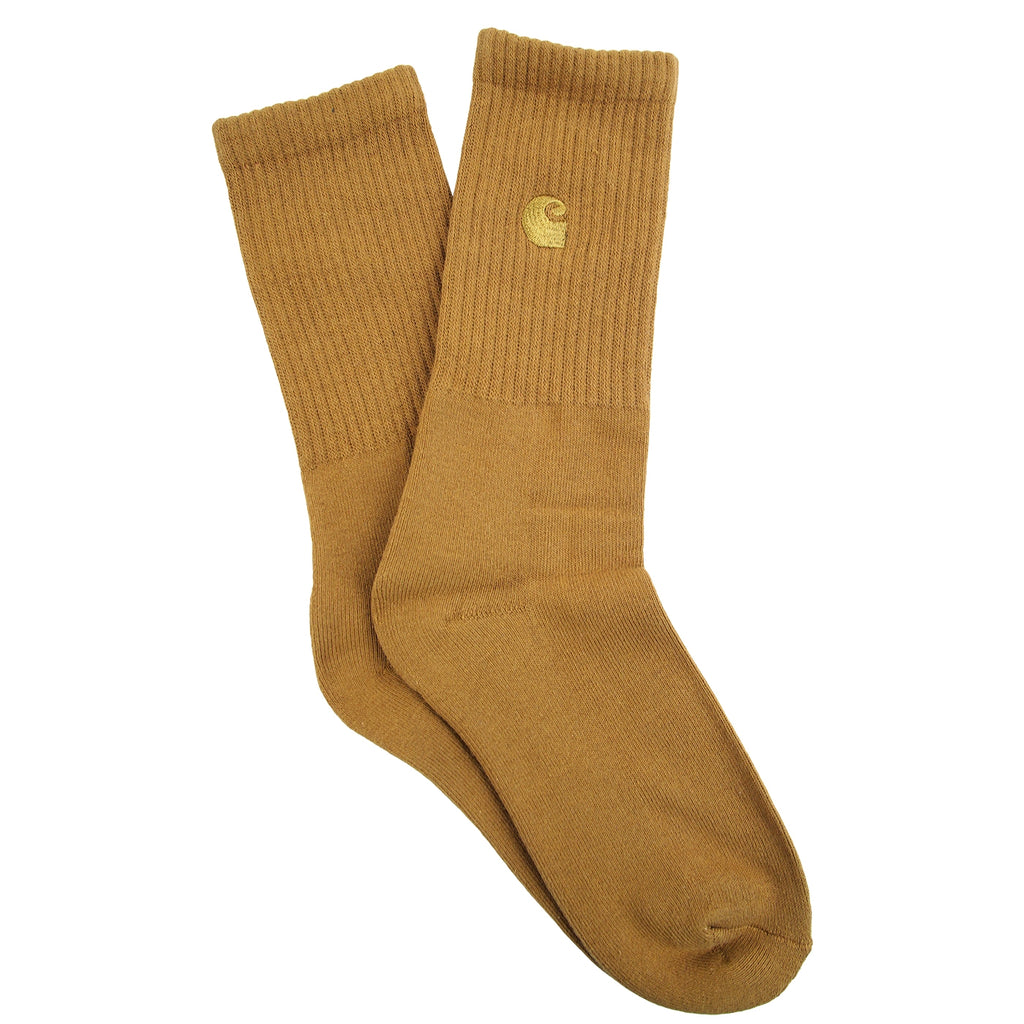 Carhartt Chase Socks in Hamilton Brown / Gold