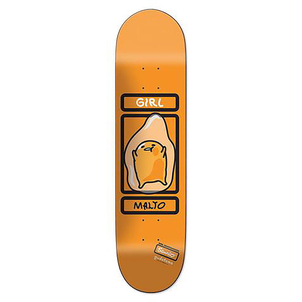 Girl Skateboards Sean Malto Sanrio Gudetama Skateboard Deck in 8.125""