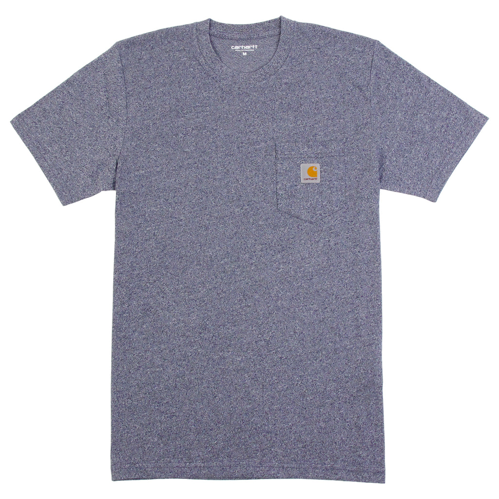Carhartt WIP Pocket T Shirt in Blue Noise Heather