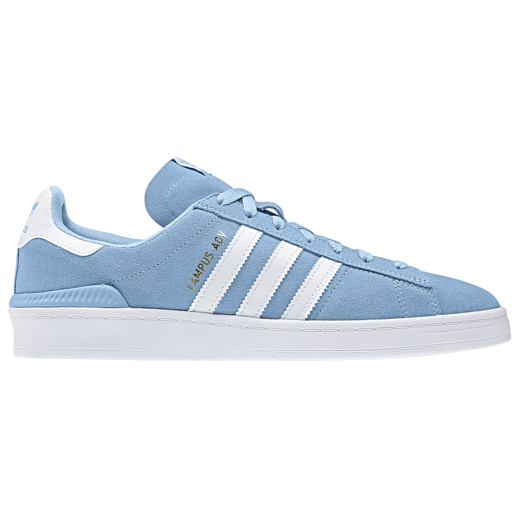 Adidas Campus ADV Shoes in Clear Blue / Footwear White / Footwear White