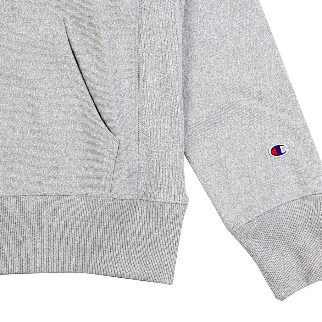 Champion Reverse Weave Hoodie in Grey Melange - Cuff