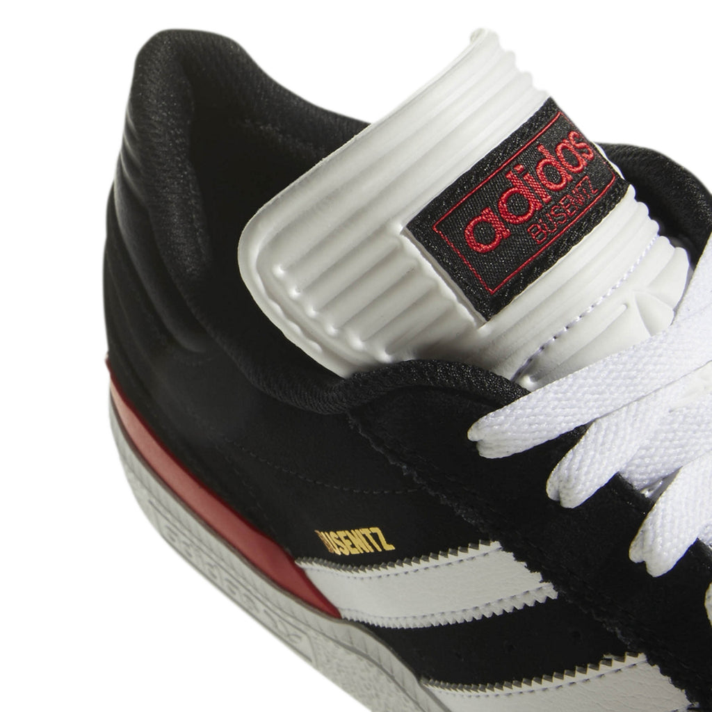 Adidas Busenitz Shoes in Core Black / Footwear White / Scarlet - Detail 2
