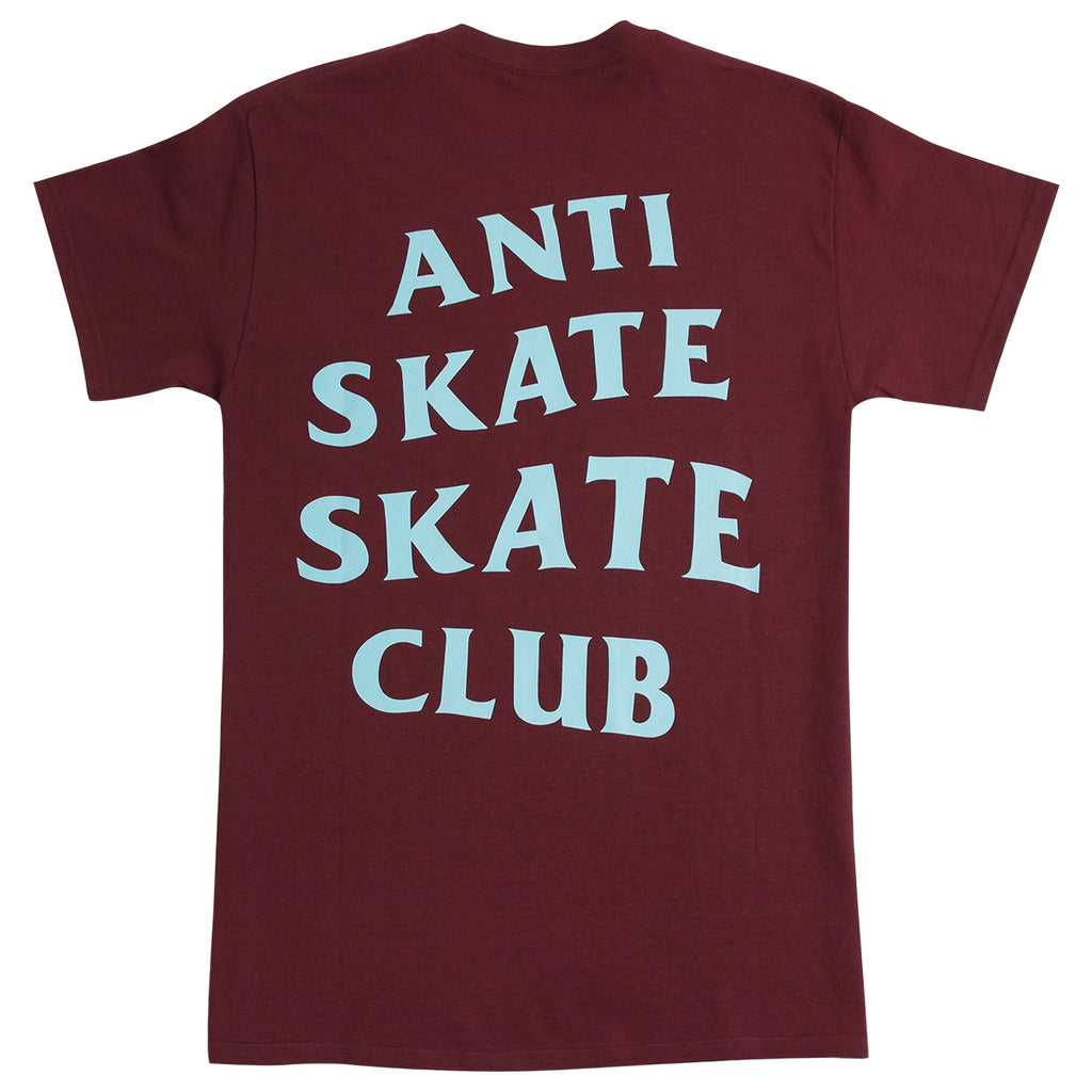 Bored of Southsea Anti Skate Club T Shirt in Maroon / Blue