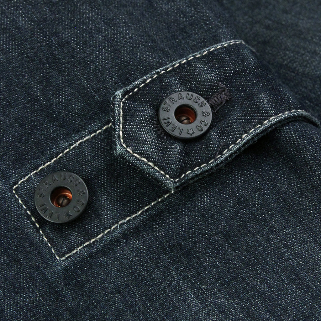 Levis Skateboarding Lined Chorecoat in Indigo - Waist Adjustment